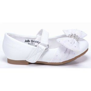 Jelly Beans Girls Size 7 White Shoes